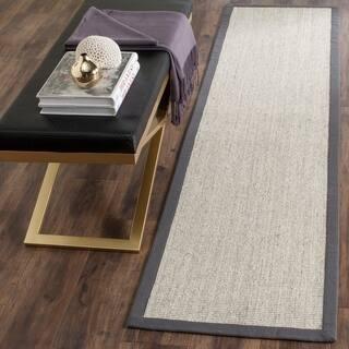 Safavieh Casual Natural Fiber Hand-Woven Serenity Marble / Grey Sisal Rug (2' 6 x 6') https://ak1.ostkcdn.com/images/products/7573410/P15002118.jpg?impolicy=medium