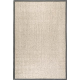 Safavieh Casual Natural Fiber Marble and Grey Border Sisal Rug (2' 6 x 4')