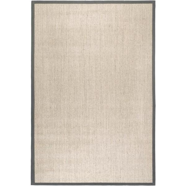 Safavieh Casual Natural Fiber Marble and Grey Border Sisal Rug (2' 6 x 4')