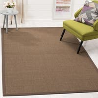 Safavieh Casual Natural Fiber Brown and Brown Border Sisal Runner