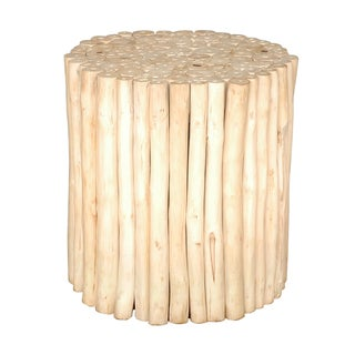 Decorative Prelude Rustic Round Wooden Stool