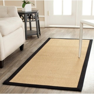 Safavieh Casual Natural Fiber Resorts Maize Beige/ Black Fine Sisal Rug