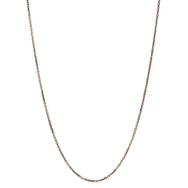 Journee Collection Sterling Silver Rose Gold-plated Flat Cable Chain