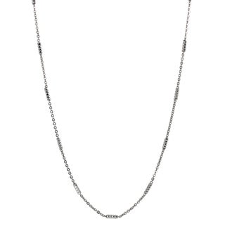 Journee Collection Sterling Silver Rhodium Tube Chain