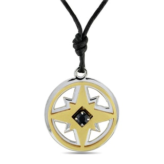 M by Miadora Italian Unisex Stainless Steel Star Necklace