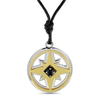 Miadora Italian Unisex Stainless Steel Star Necklace