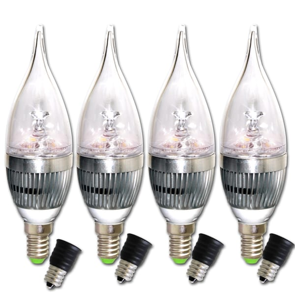 Infinity LED Dimmable Warm White Candelabra Bulbs (Pack of 4)