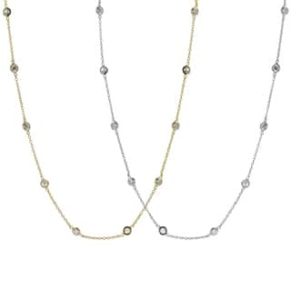 Journee Collection Silver or Goldplated Silver Cubic Zirconia Vintage Necklace|https://ak1.ostkcdn.com/images/products/7573692/P15002322.jpg?impolicy=medium