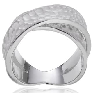 Journee Collection Sterling Silver Textured Twist Ring|https://ak1.ostkcdn.com/images/products/7573705/P15002311.jpg?impolicy=medium