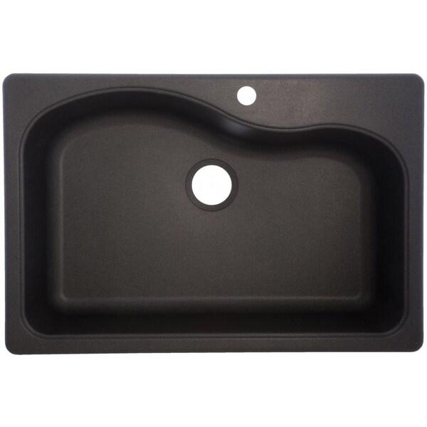 SGR3322-1 Large Granite Single Bowl Undermount/Self-Rimming Sink