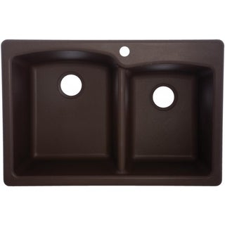 mocha eodb332291 doublebasin composite granite kitchen sink - Franke Sink