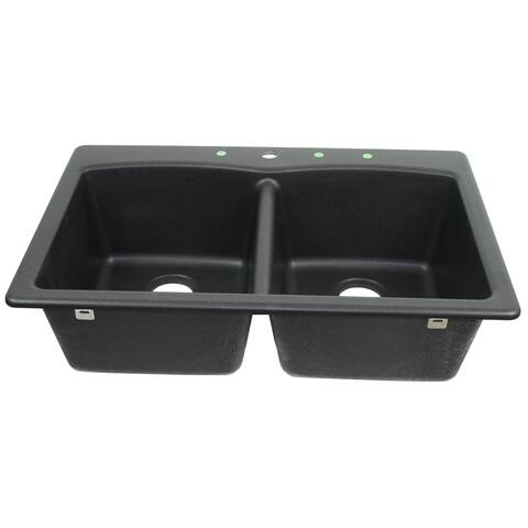 Franke USA Undermount Double Bowl Granite Sink EDOX33229-1