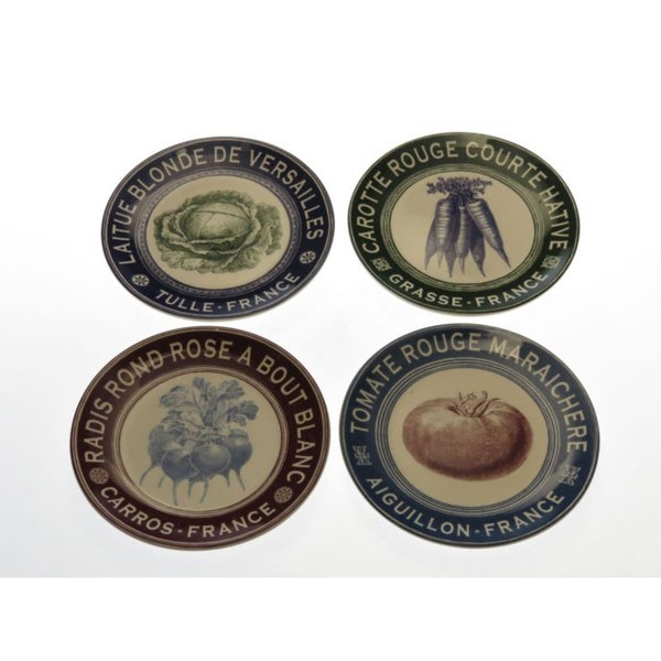 Certified International 'French Market' Assorted Dessert Plates (Set of 4)