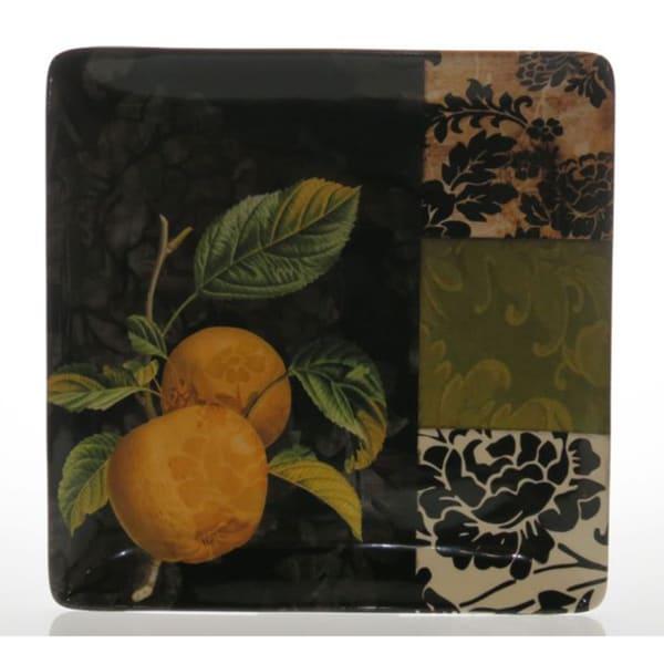 Certified International 'Damask Fruit' Square Platter