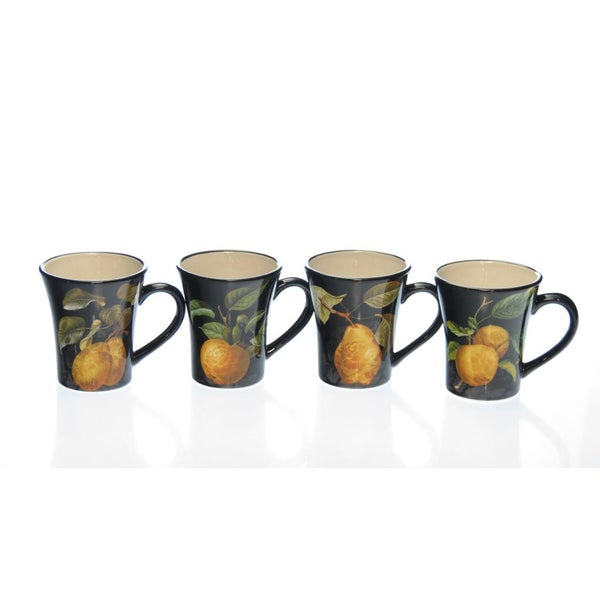 Certified International 'Damask Fruit' Assorted Mugs (Set of 4)