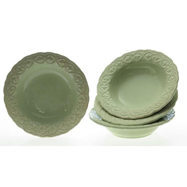 Certified International 'Adeline Green' Soup Bowls (Set of 4)