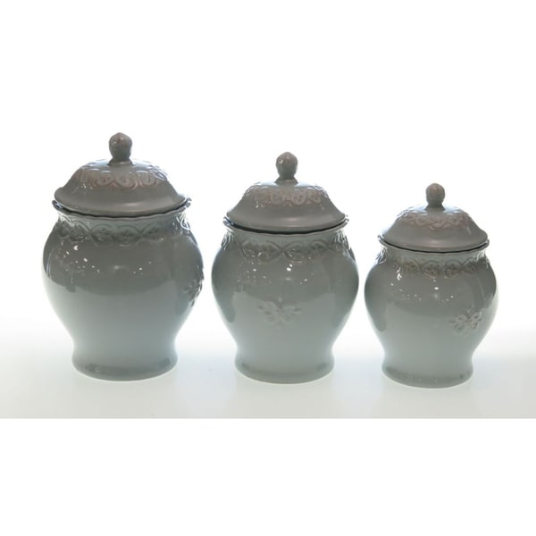 Certified International Adeline Blue Canister Set (3-piece)
