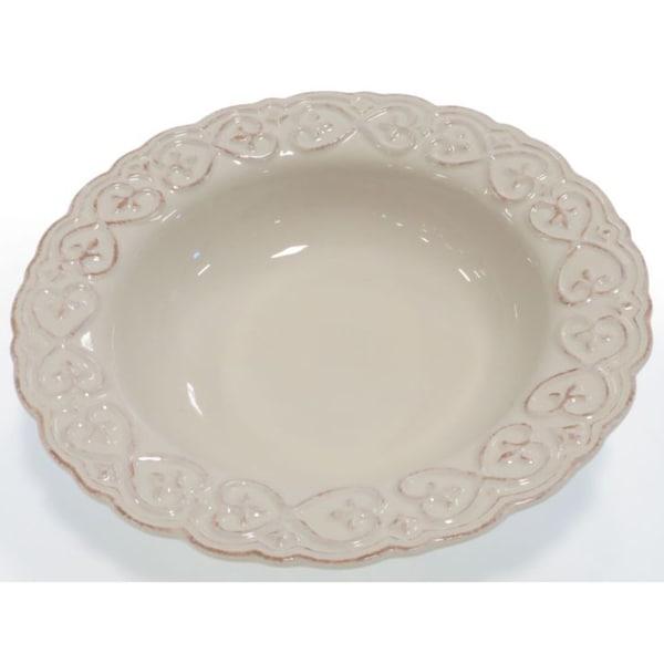 Certified International Adeline Ivory Pasta/Serving Bowl