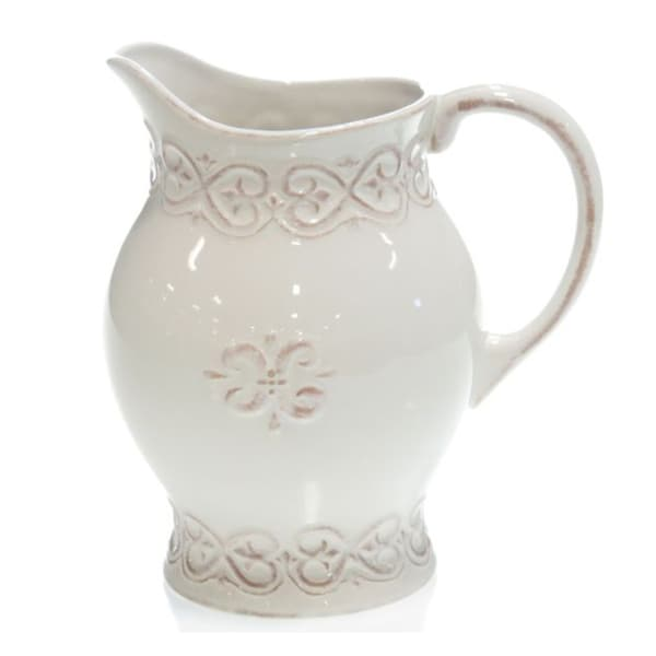 Certified International Adeline Ivory Pitcher
