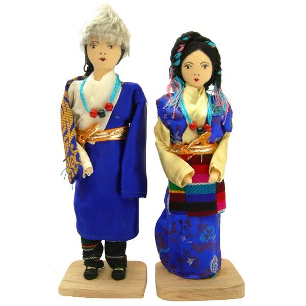 Tibetan Sherpa Couple Dolls (Nepal)