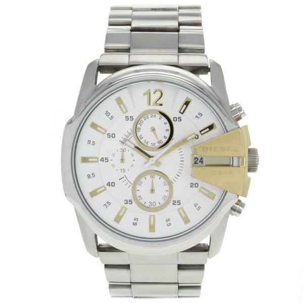 Diesel Men's Classic Silver-Dial Chronograph Watch