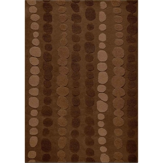 Jovi Home Auspice Brown Hand Tufted Rug (5 x 8)
