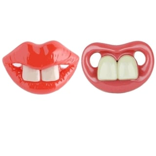 Two Front Teeth Broadway and Baby Bugs Pacifiers (Pack of 2)