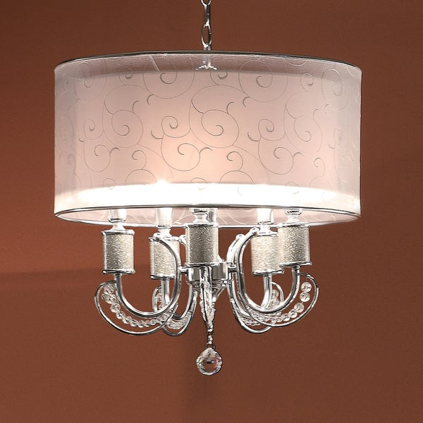 TRIBECCA HOME Alonza Crystal Ceiling Lamp