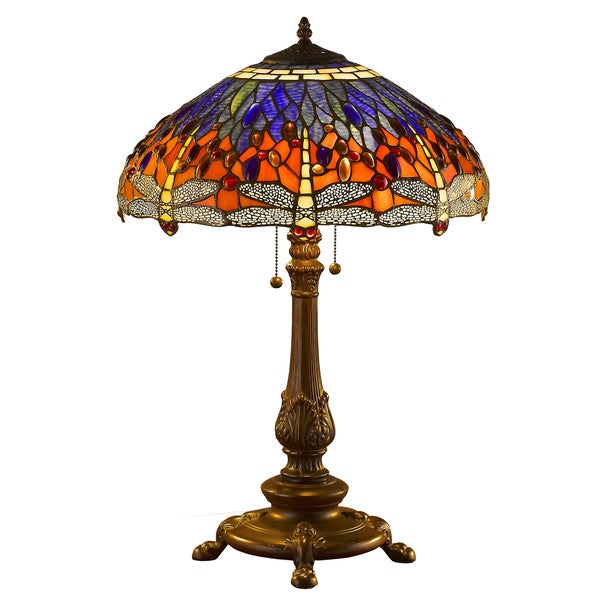 Tiffany Style Dragonfly Table Lamp