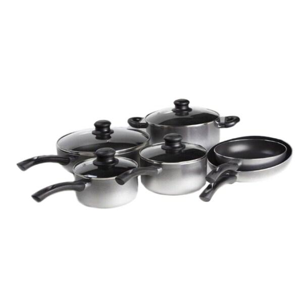 Art & Cuisine Evolution Grey 10-piece Cookware Set