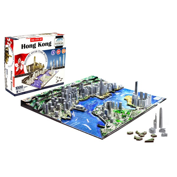 4D Cityscape Puzzle: Hong Kong