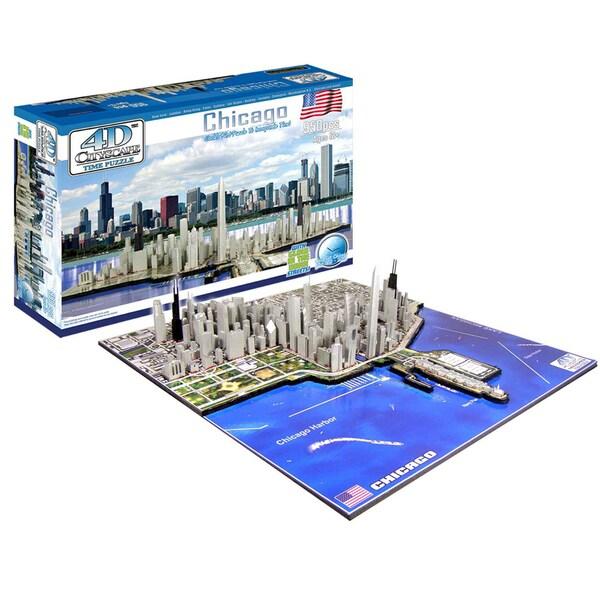 4D Cityscape Puzzle: Chicago