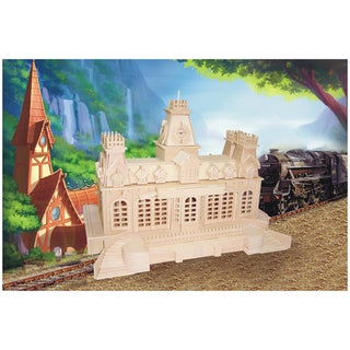 Train Station Wood 3D Puzzle