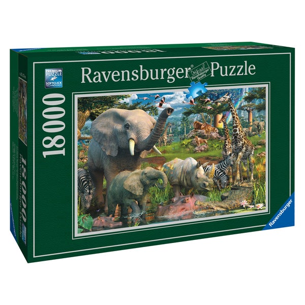 18,000-piece At the Waterhole Puzzle - Multi