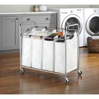 Whitmor Chrome 4-section Laundry Sorter