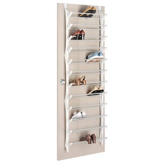 Whitmor 36-pair Over-the-Door Resin Shoe Display Rack
