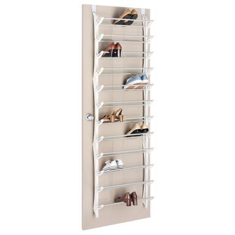 Whitmor 36-pair Over-the-Door Resin Shoe Display Rack