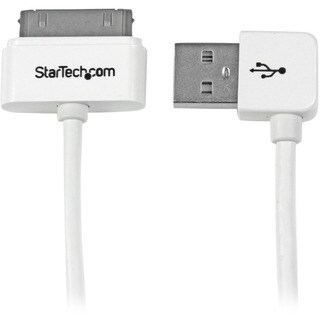 StarTech.com 1m (3 ft) Apple® 30-pin Dock Connector to Right Angl