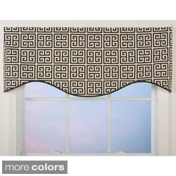Greek Key Pattern M-Shaped Valance