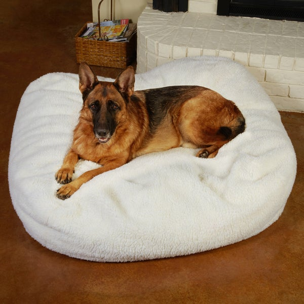Sweet Dreams Extra Large 50-inch Sherpa Pet Bed