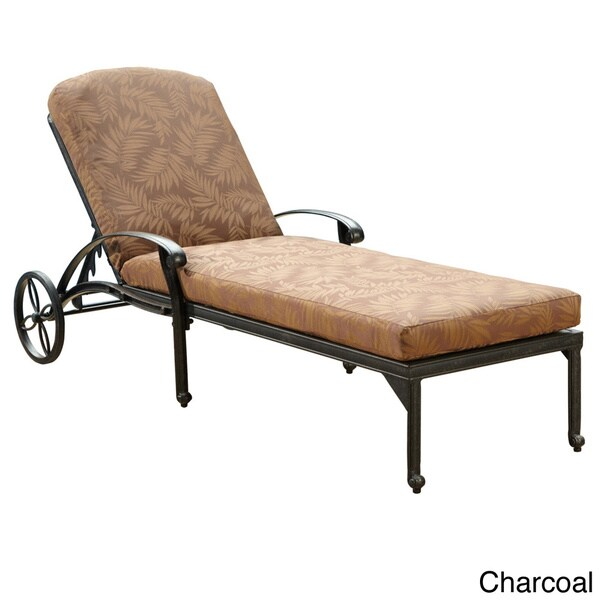 Floral Blossom Chaise Lounge Chair With Cushion By Home