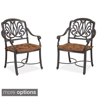 Floral Blossom Arm Chair Pair with Cushion by Home Styles (Option: Taupe)