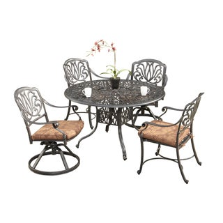 Home Styles Aluminum Floral Blossom Five-Piece Dining Set