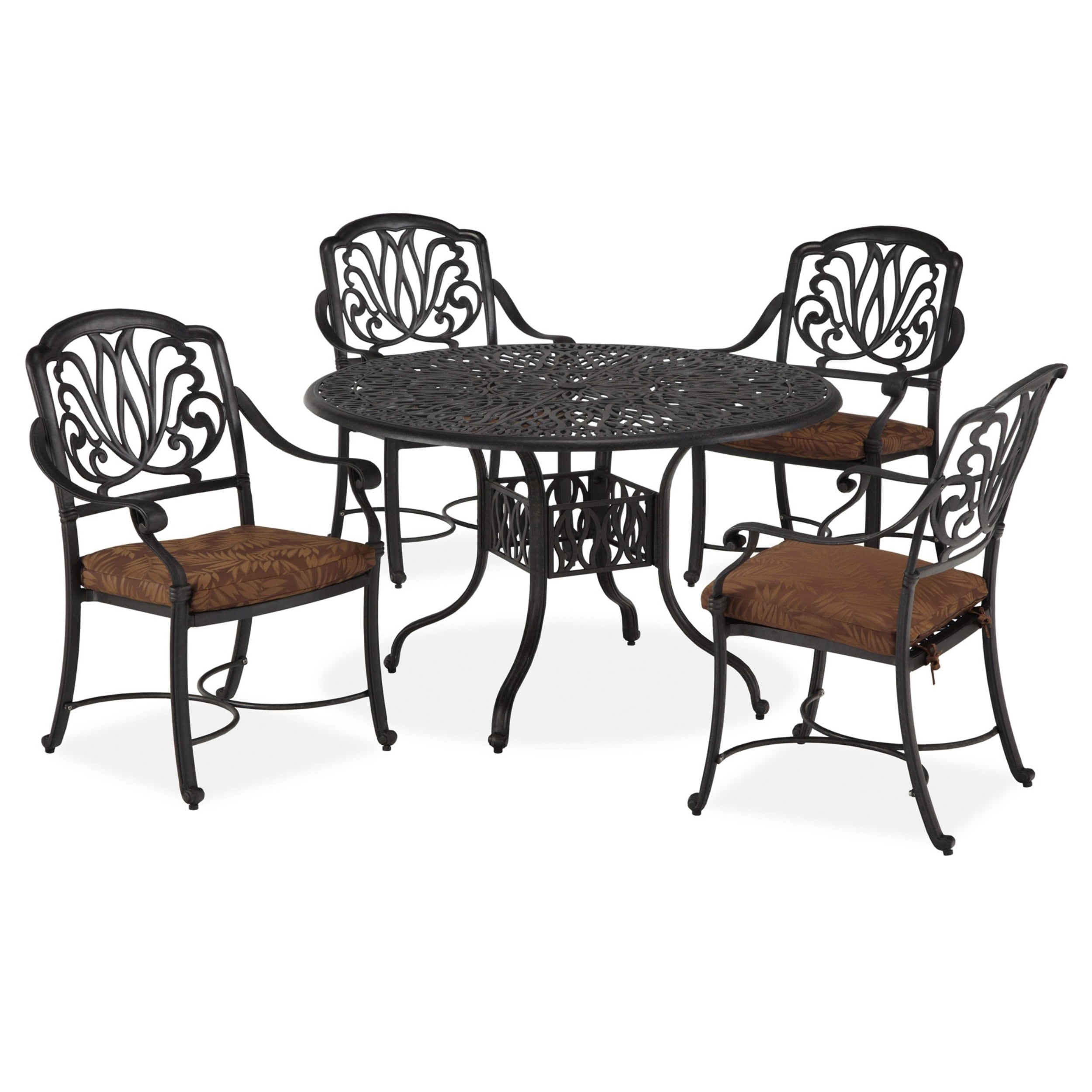 Outdoor Floral Blossom Five-Piece Dining Set by Home Styl...