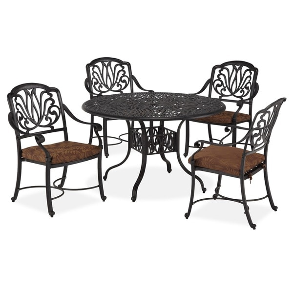 Outdoor Floral Blossom Five-Piece Dining Set by Home Styles