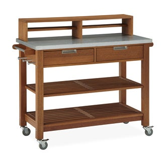 Oliver & James Sekka Teak Wood Potting Bench