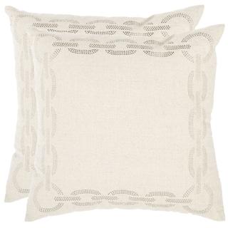 Safavieh Sibine 22-inch Ivory Decorative Pillows (Set of 2)