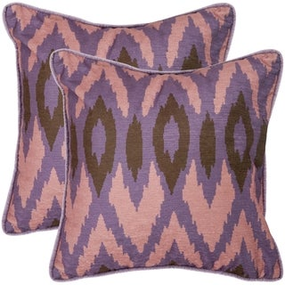 Safavieh Easton 18-inch Lavander Decorative Pillows (Set of 2)