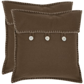 Safavieh Scudder 18-inch Brown Decorative Pillows (Set of 2)