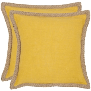 Safavieh Sweet Serona 18-inch Yellow Decorative Pillows (Set of 2)